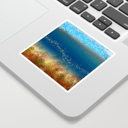 Abstract Seascape 01 w Sticker