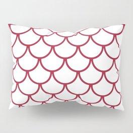Crimson Fish Scales Pattern Pillow Sham