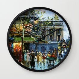 Paris Cafe de la Paix, Opera by Antoine Blanchard Wall Clock