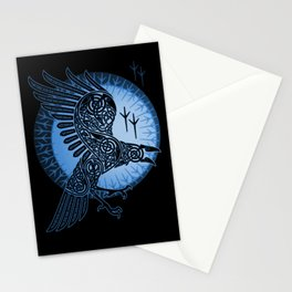 Viking Raven of Death - Blue Stationery Cards