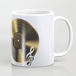 Gold LP Vinyl Record Coffee Mug