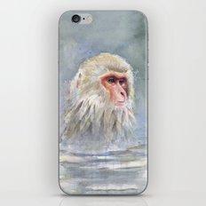 Snow Monkey Watercolor Animal iPhone & iPod Skin