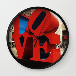 Love Sculpture - NYC Wall Clock