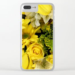 Floral Bouquet: Yellow Daisies and Yellow Roses Clear iPhone Case