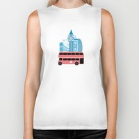 england Biker Tanks featuring London, England by Milli-Jane