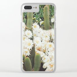 Cactus and Flowers Clear iPhone Case