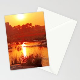 Perfect african morning, wildlife Stationery Cards