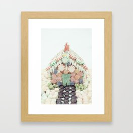 Christmas Gingerbread House Framed Art Print