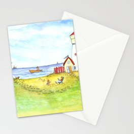 At the seaside Stationery Cards