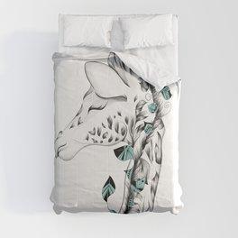Poetic Giraffe Comforters