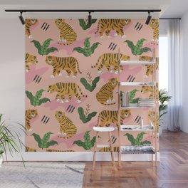 Vintage Tiger Print Wall Mural
