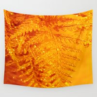 rush Wall Tapestries featuring Gold Rush by Iryna Goodall