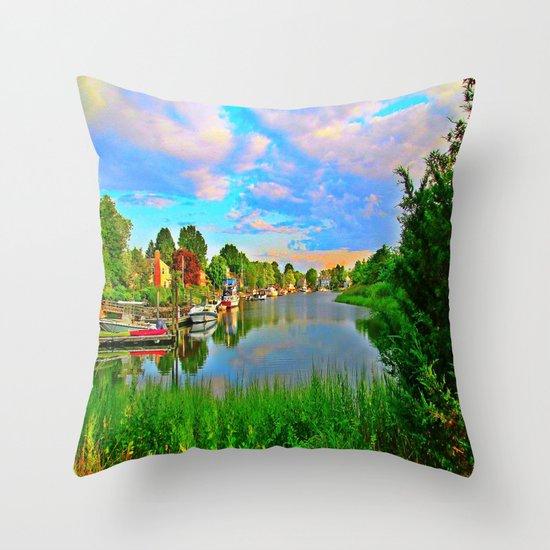 Lagoon Sunset Throw Pillow