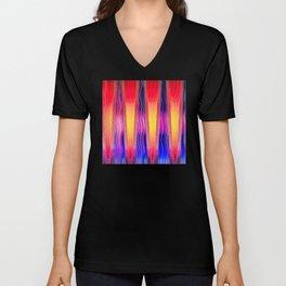 Hot Color Waves Unisex V-Neck