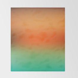 Orange Gradient Throw Blanket