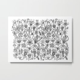 Floral Connection Metal Print