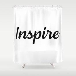 Motivational Words & Inspirational Sayings - Inspire - Minimal Art Shower Curtain