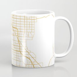 LAS VEGAS NEVADA CITY STREET MAP ART Coffee Mug