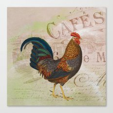 French Rooster Canvas Print