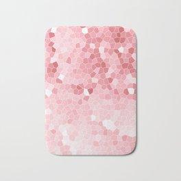 Mosaic Blush Pink Cabbage Abstract Art   Spring Bath Mat