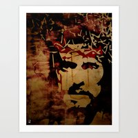 christ Art Prints featuring Jesus Christ by Ed Pires