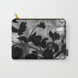 Queen Sweet Pea -- grayscale Carry-All Pouch
