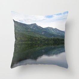 Summit Lake Scenic I -Natue Scenery Throw Pillow