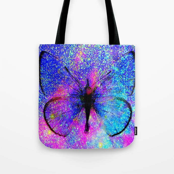 Celestial Butterfly : Bright & Colorful Tote Bag