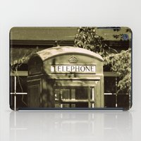 telephone iPad Cases featuring Telephone by Irène Sneddon