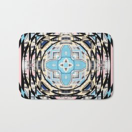 Perspective Aperture, Intersecting Pattern Bath Mat