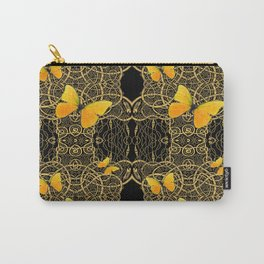 Yellow Mariposas (Butterfly) Celtic Gold & black Art Carry-All Pouch