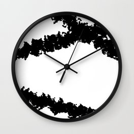 Black and White Line Drawing Minimalism Art no.4 Wall Clock