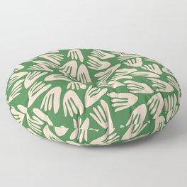Papier Découpé Modern Abstract Cutout Pattern in Pale Blush Pink and Green Floor Pillow