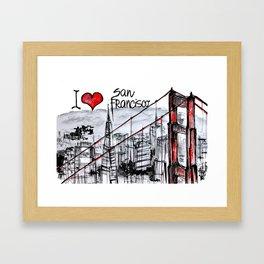 I love San Francisco  Framed Art Print