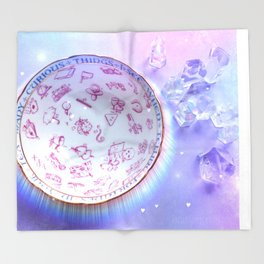 Fortune Teacup and Crystals Throw Blanket