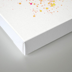 Uplifting Heat - Abstract Splatter Style Canvas Print