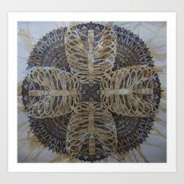 Ribcage Mandala Art Print