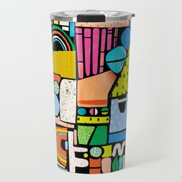 Color Block Collage Travel Mug