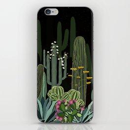 Cactus Garden at Night iPhone Skin