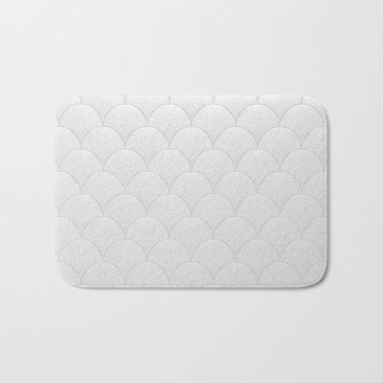 Big white fish bath mat by shilldesign society6 for Fish bath mat