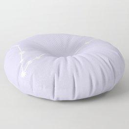 Pisces Zodiac Constellation - Lavender Floor Pillow