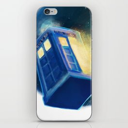 The TARDIS iPhone Skin