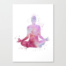 Yoga - Lotus pose  Canvas Print