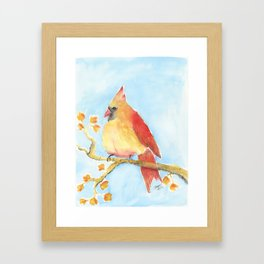 Mrs. Cardinal Framed Art Print