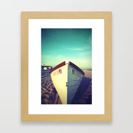 Lifeboat, Cape May Framed Art Print