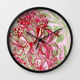HIBISCUS TANGLE Wall Clock