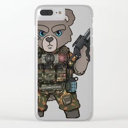 Germany Army Special Forces - Military Teddy Gift Ideas Clear iPhone Case