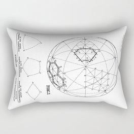 Buckminster Fuller 1961 Geodesic Structures Patent Rectangular Pillow