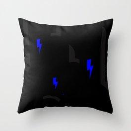 BLCK & YLLW MNSTR HROS Throw Pillow