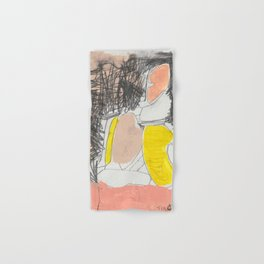 yellow-pink hope Hand & Bath Towel